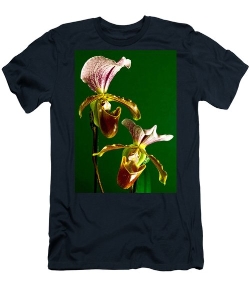 Pair Of Lady Slipper Orchids Men's T-Shirt (Athletic Fit)