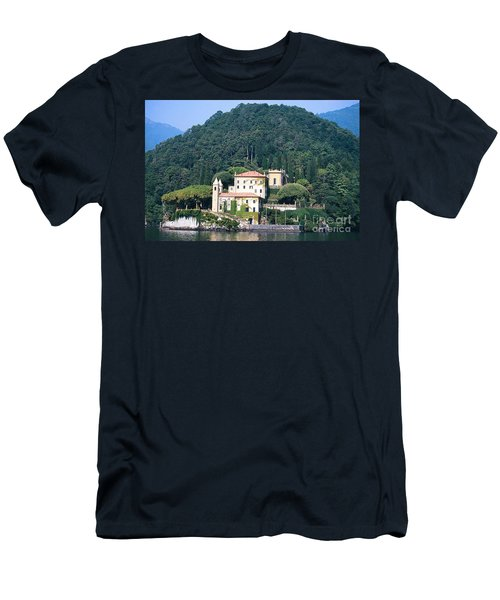 Men's T-Shirt (Slim Fit) featuring the photograph Palace At Lake Como Italy by Greta Corens
