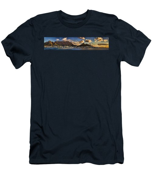 Panorama Cape Town Harbour At Sunset Men's T-Shirt (Athletic Fit)