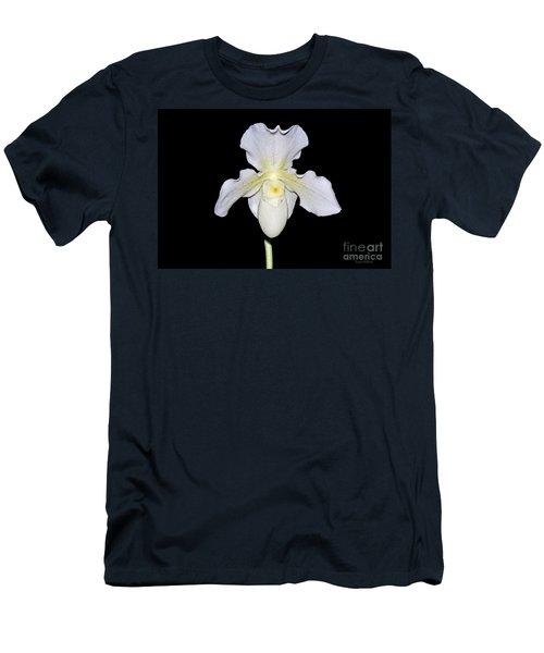 Paphiopedilum Orchid F.c. Puddle Superbum  Men's T-Shirt (Slim Fit) by Susan Wiedmann