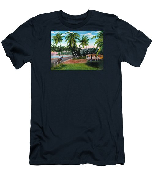 Paseo Por La Isla Men's T-Shirt (Slim Fit) by Luis F Rodriguez