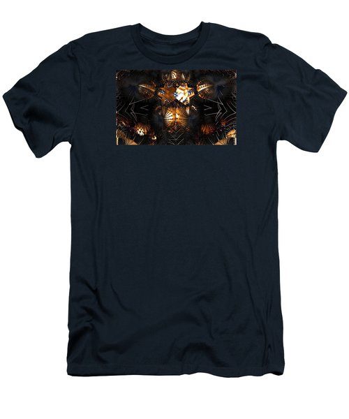 Men's T-Shirt (Slim Fit) featuring the digital art Paths Of Pain by Jeff Iverson