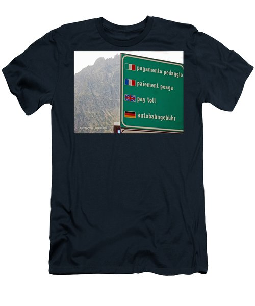 Pay Toll Italy Men's T-Shirt (Athletic Fit)