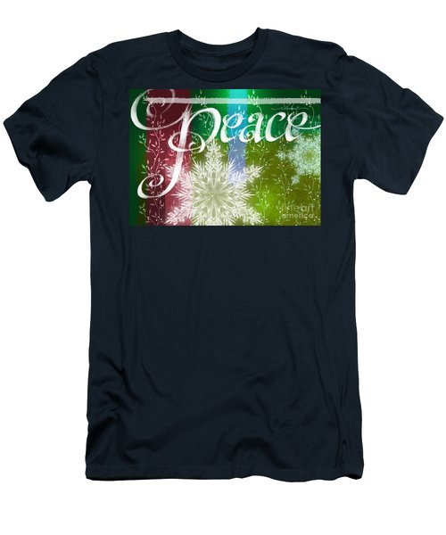 Peace Greeting Men's T-Shirt (Slim Fit)