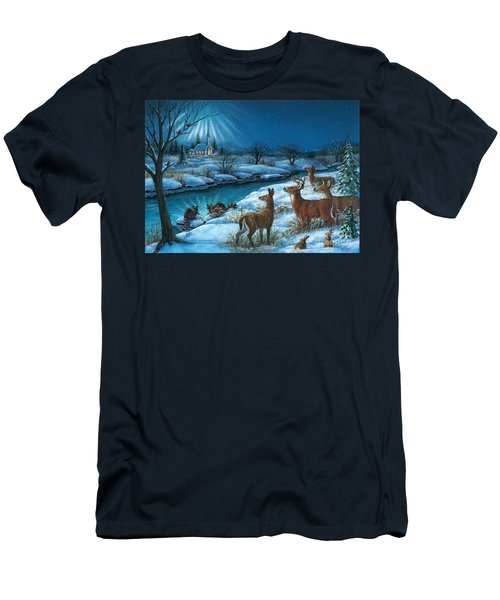 Peaceful Winters Night Men's T-Shirt (Athletic Fit)