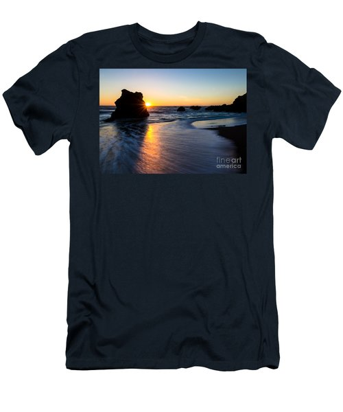 Men's T-Shirt (Slim Fit) featuring the photograph Peeking Sun by CML Brown