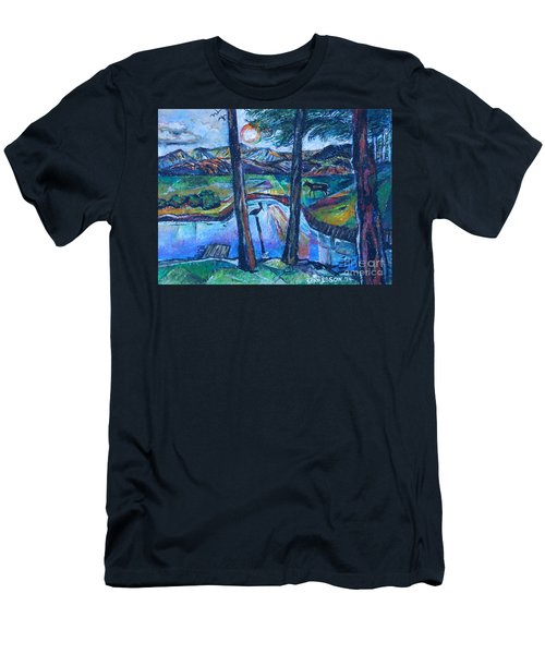 Pelican And Moose In Landscape Men's T-Shirt (Athletic Fit)
