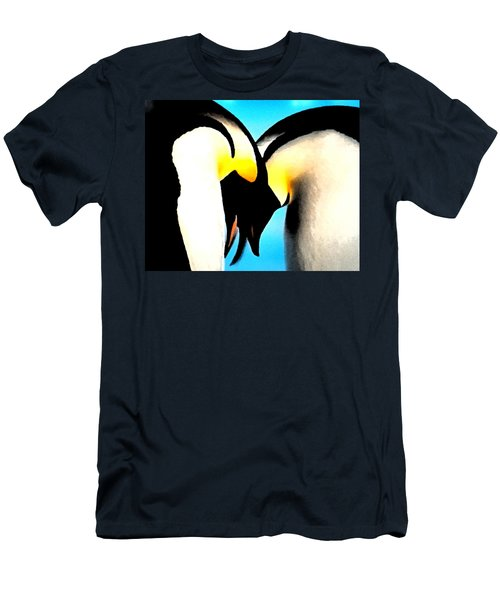 Penquin Love Dance Men's T-Shirt (Athletic Fit)