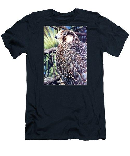 Da138 Peregrine Falcon By Daniel Adams Men's T-Shirt (Athletic Fit)