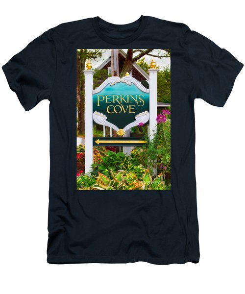 Perkins Cove Sign Men's T-Shirt (Slim Fit) by Jerry Fornarotto