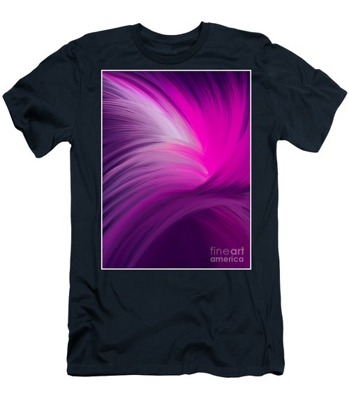 Pink And Purple Swirls Men's T-Shirt (Athletic Fit)
