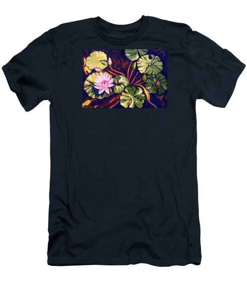 Pink Lotus Flower Men's T-Shirt (Athletic Fit)
