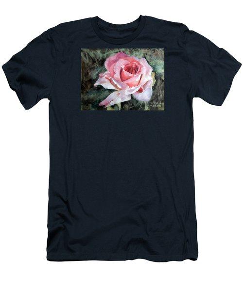 Pink Rose Greg Men's T-Shirt (Slim Fit) by Greta Corens