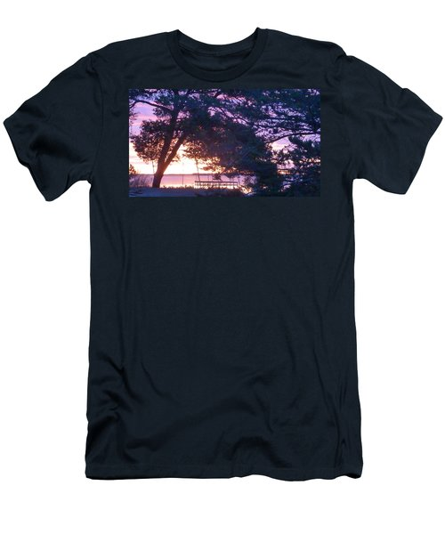 Pink Sunrise Men's T-Shirt (Slim Fit) by Rogerio Mariani