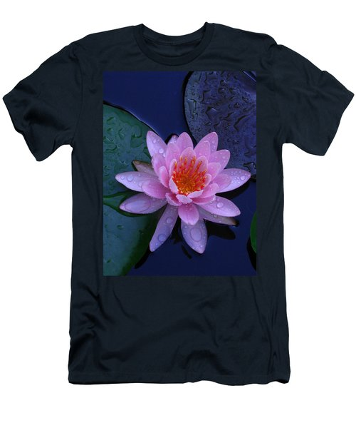 Men's T-Shirt (Slim Fit) featuring the photograph Pink Waterlily by Raymond Salani III