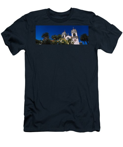 Plants In Front Of A Cathedral Men's T-Shirt (Athletic Fit)