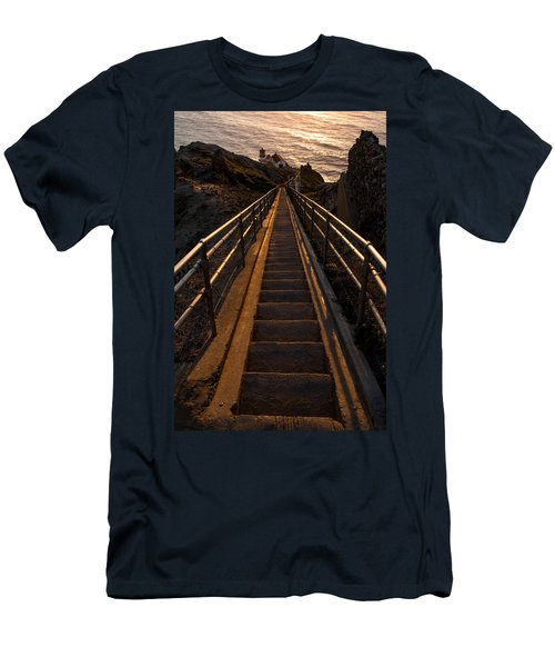 Point Reyes Lighthouse Staircase Men's T-Shirt (Athletic Fit)