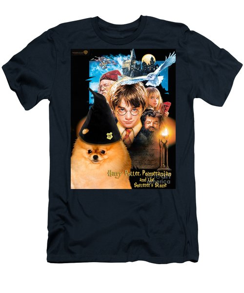 Pomeranian Art Canvas Print - Harry Potter Movie Poster Men's T-Shirt (Athletic Fit)