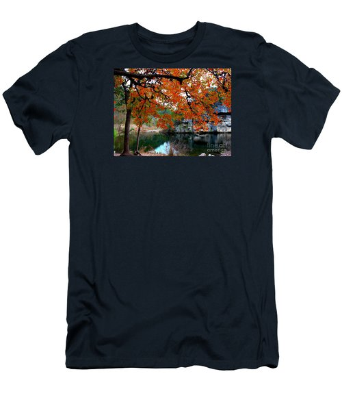 Fall At Lost Maples State Natural Area Men's T-Shirt (Athletic Fit)