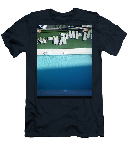 Poolside Upside Men's T-Shirt (Slim Fit) by Brian Boyle