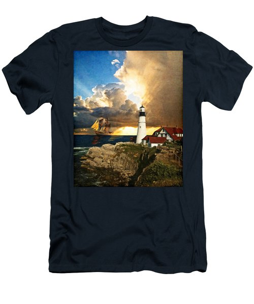 Portland Head Lighthouse Men's T-Shirt (Athletic Fit)