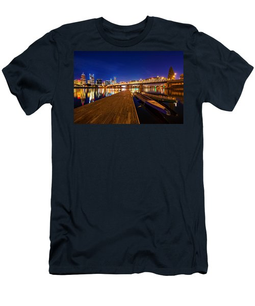 Men's T-Shirt (Athletic Fit) featuring the photograph Portland Under The Stars by Dustin  LeFevre