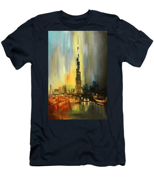 Portrait Of Burj Khalifa Men's T-Shirt (Athletic Fit)
