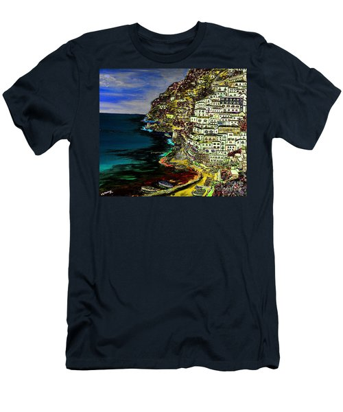 Positano At Night Men's T-Shirt (Athletic Fit)