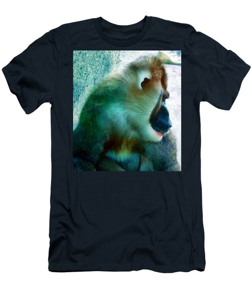 Men's T-Shirt (Slim Fit) featuring the photograph Primate 1 by Dawn Eshelman