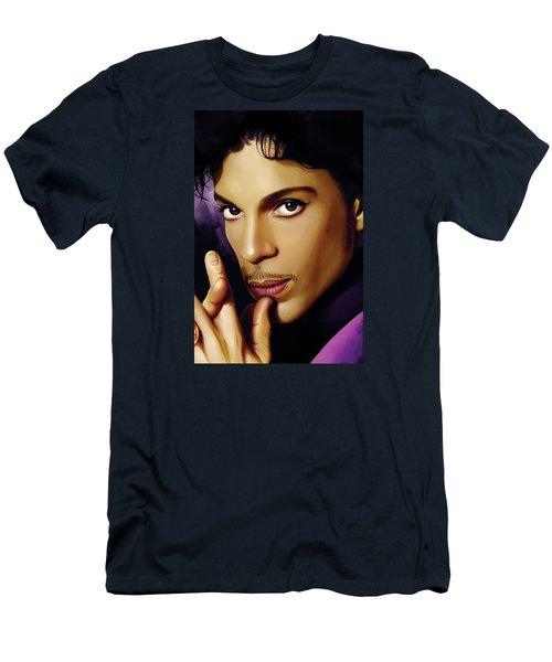 Prince Artwork Men's T-Shirt (Slim Fit) by Sheraz A