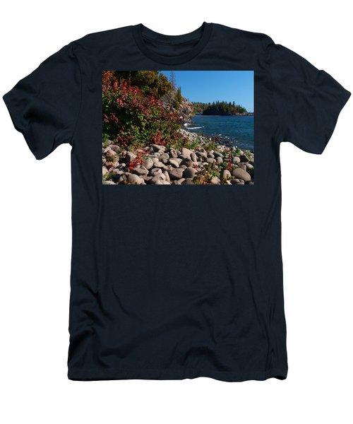 Men's T-Shirt (Athletic Fit) featuring the photograph Pristine Shoreline by Melissa Peterson