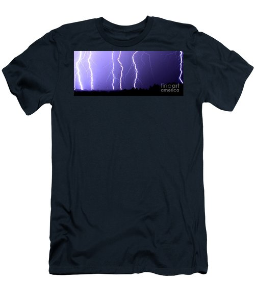 Purple Rain Lightning Men's T-Shirt (Athletic Fit)