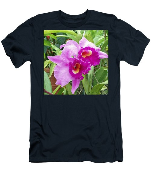 Purple Cattleya Orchids Men's T-Shirt (Athletic Fit)