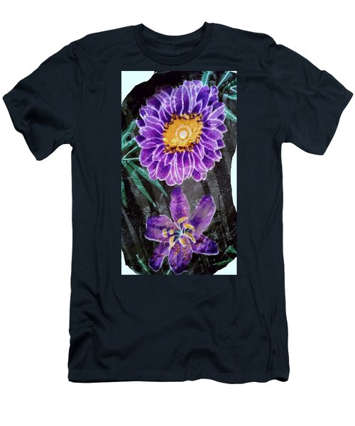 Men's T-Shirt (Slim Fit) featuring the photograph Purple Silk by Fortunate Findings Shirley Dickerson