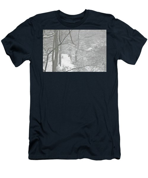 Querida In The Snow Storm Men's T-Shirt (Athletic Fit)