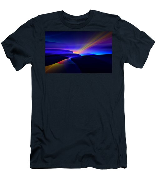 Men's T-Shirt (Slim Fit) featuring the digital art Rainbow Pathway by GJ Blackman