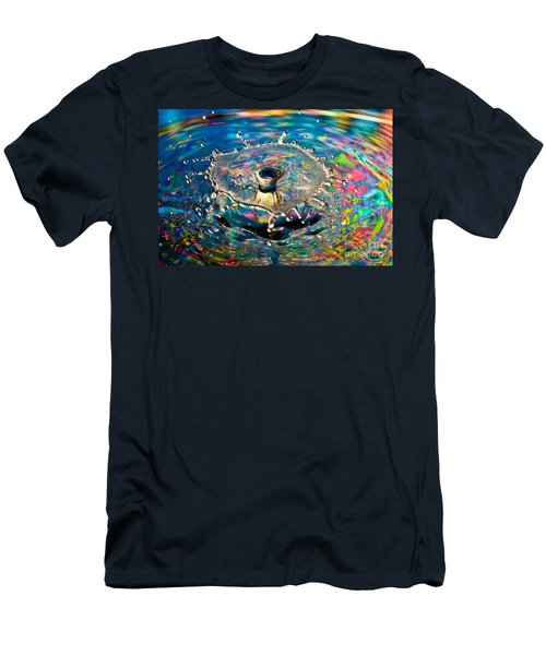Rainbow Splash Men's T-Shirt (Slim Fit)