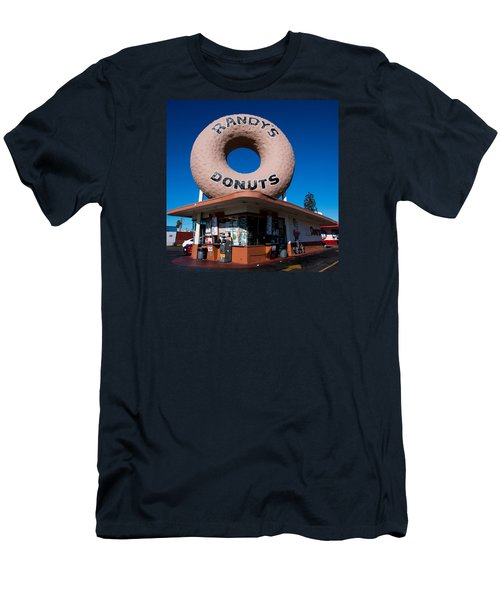 Randy's Donuts Men's T-Shirt (Slim Fit) by Stephen Stookey