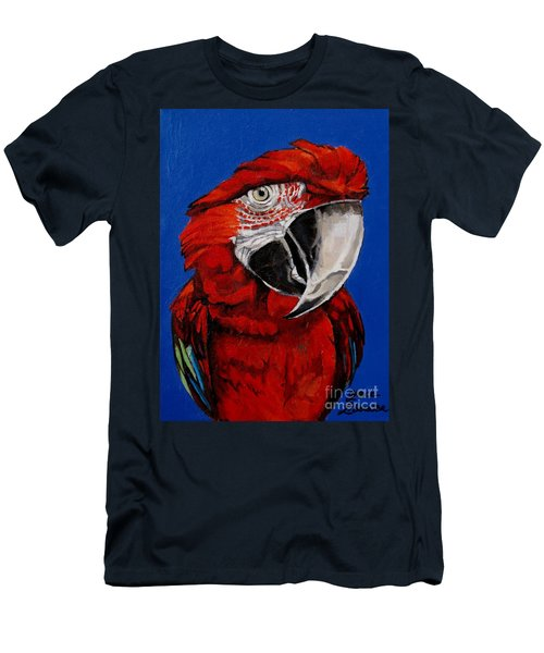 Razzy Red - Bird- Macaw Men's T-Shirt (Athletic Fit)