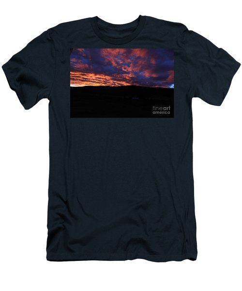Men's T-Shirt (Athletic Fit) featuring the photograph Red Dawn by Ann E Robson