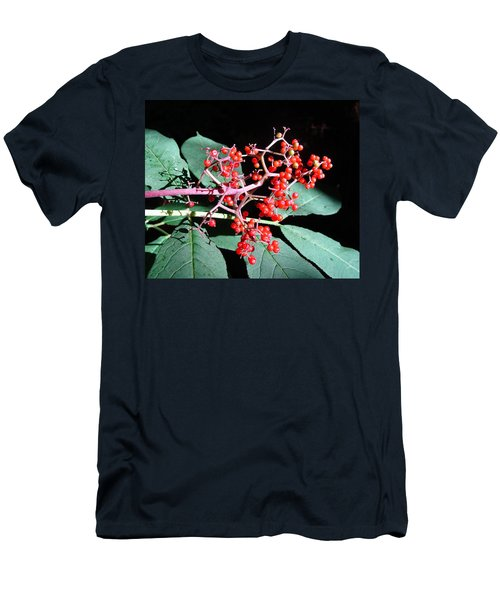 Men's T-Shirt (Slim Fit) featuring the photograph Red Elderberry by Cheryl Hoyle