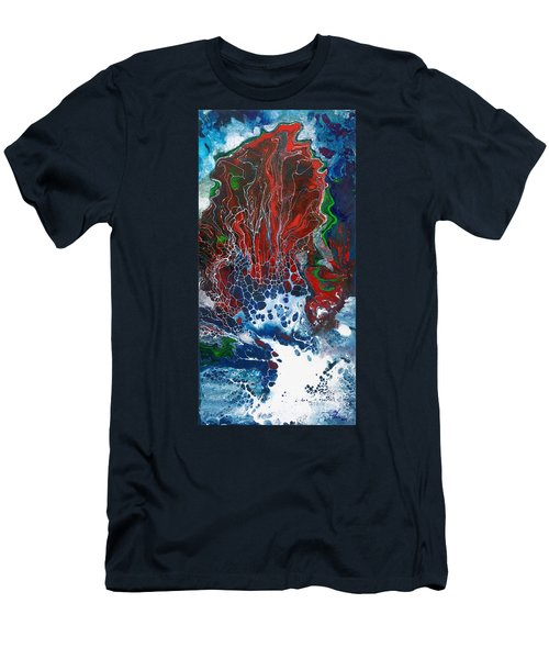 Red Fan Coral Men's T-Shirt (Athletic Fit)