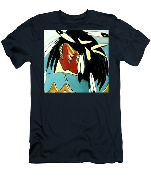 Men's T-Shirt (Slim Fit) featuring the painting Red Indian by Lance Headlee