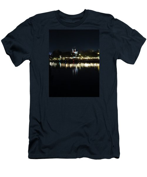 Reflection Of Lights Men's T-Shirt (Slim Fit) by Kathy Long