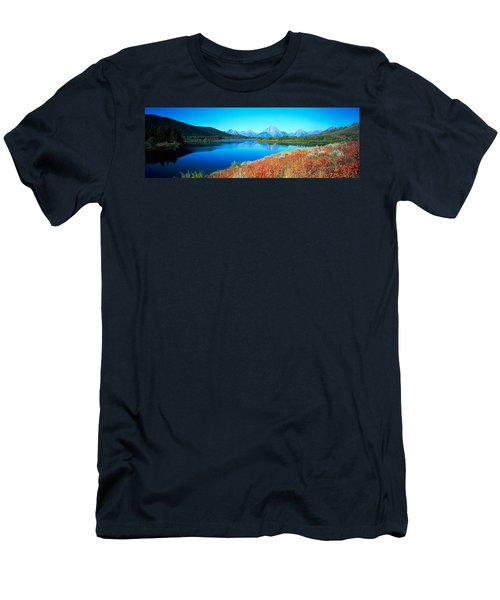 Reflection Of Mountain In A River Men's T-Shirt (Athletic Fit)