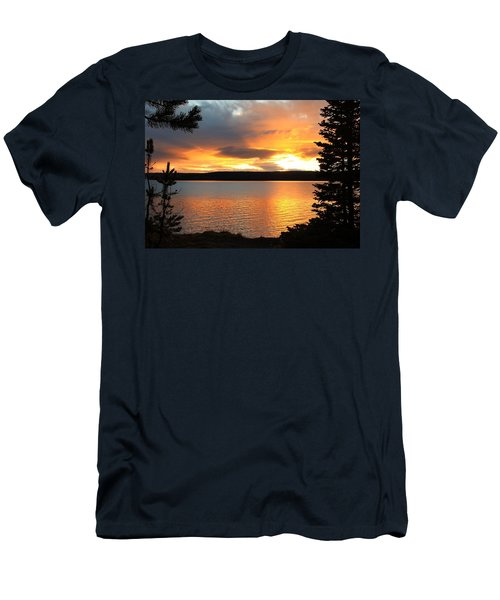Men's T-Shirt (Slim Fit) featuring the photograph Reflections Of Sunset by Athena Mckinzie