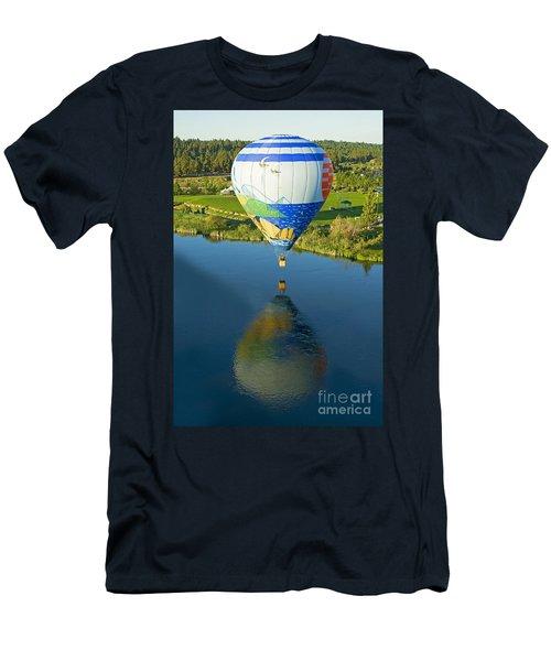 Men's T-Shirt (Slim Fit) featuring the photograph Reflections Over The Dechutes by Nick  Boren