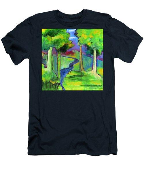 Rendezvous Triptych Men's T-Shirt (Slim Fit) by Elizabeth Fontaine-Barr