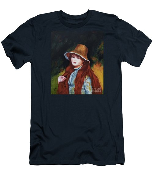 Renoir-young Girl In A Straw Hat Men's T-Shirt (Athletic Fit)