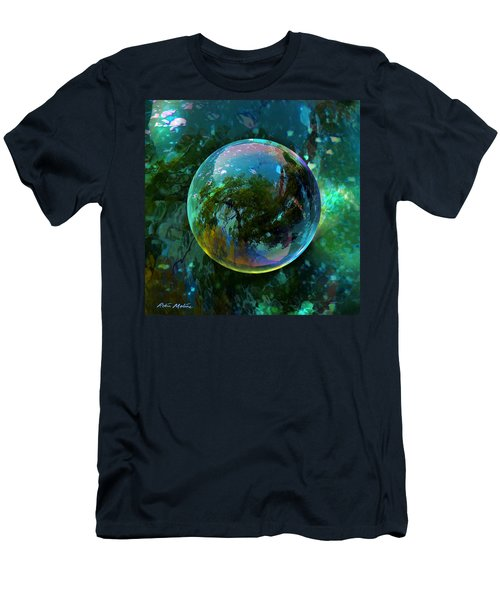 Men's T-Shirt (Slim Fit) featuring the painting Reticulated Dream Orb by Robin Moline